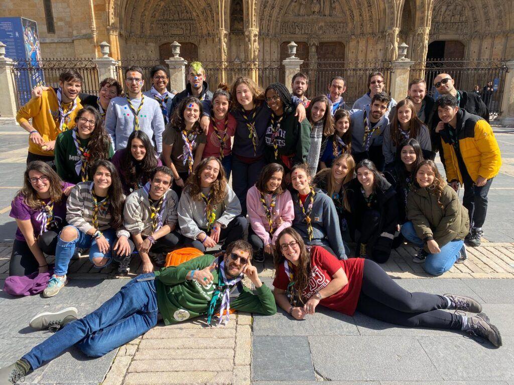 Foto del grupo de responsables Scouts reunidos en León